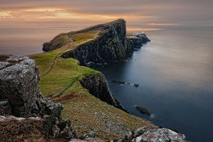 landscape, sea, skye, cliffs, Neist Point Lighthouse, Isle of Skye