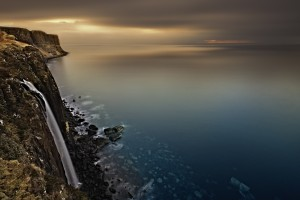 landscape, sea, cliffs, Kilt Rock, Isle of Skye